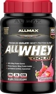 AllMax Nutrition - AllWhey Gold Premium Isolate/Whey Protein Blend Strawberry - 2 lbs.