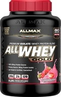 AllMax Nutrition - AllWhey Gold Premium Isolate/Whey Protein Blend Strawberry - 5 lbs.