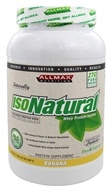 AllMax Nutrition - IsoNatural Whey Protein Isolate Banana - 2 lbs.