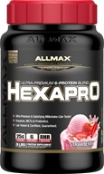 AllMax Nutrition - Hexapro Ultra-Premium 6-Protein Blend Strawberry - 3 lbs.