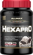 AllMax Nutrition - Hexapro Ultra-Premium 6-Protein Blend Cookies & Cream - 3 lbs.