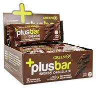 Greens Plus - +PlusBar Energy Bars Box Chocolate - 12 Bars