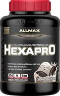 AllMax Nutrition - Hexapro Ultra-Premium 6-Protein Blend Cookies & Cream - 5.5 lbs.