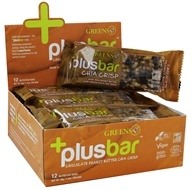 Greens Plus - +PlusBar Chia Crisp Bars Box Chocolate Peanut Butter - 12 Bars