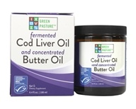 Green Pasture Products - Blue Ice Royal Butter Oil/Fermented Cod Liver Oil Blend Gel Non-Flavored - 8.1 oz.
