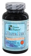 Green Pasture Products - Blue Ice Fermented Cod Liver Oil Orange - 120 Capsules