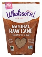 Wholesome! - Natural Raw Cane Turbinado Sugar - 1.5 lbs.