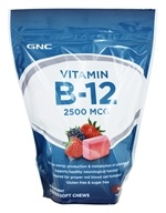 GNC - Vitamin B12 Soft Chews Berry Blast 2500 mcg. - 60 Soft Chews