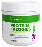 LuckyFit - Protein + Veggies Plant Protein Blend with Green Nutrients Berry - 1.2 lbs. by LuckyVitamin