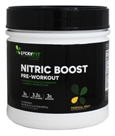LuckyFit - Nitric Boost Pre-Workout Tropical Fruit - 18.34 oz.