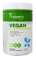 LuckyFit - Vegan Meal Replacement Powder Vanilla - 1.65 lbs.