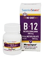 Superior Source - No Shot Vitamin B12 2000 mcg. - 60 Quick Dissolve Tablets