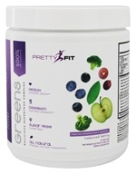 PrettyFit - Greens 100% All Natural Delicious Superfood Complex Natural Berry - 315 Grams
