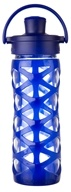 Lifefactory - Glass Bottle with Active Flip Cap and Silicon Sleeve Sapphire - 16 oz.