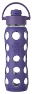 Lifefactory - Glass Bottle with Flip Cap and Silicone Sleeve Royal Purple - 22 oz.