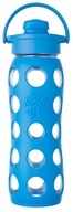 Lifefactory - Glass Bottle with Flip Cap and Silicone Sleeve Ocean - ...