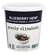 Purely Elizabeth - Gluten-Free Ancient Grain Granola and Puffs Blueberry Hemp - 1.1 oz.