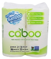 Caboo - 100% Bamboo and Sugarcane Bath Tissue 300 Sheets - 4 Roll(s)