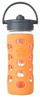 Lifefactory - Glass Bottle with Straw Cap and Silicone Sleeve Orange - 12 oz.