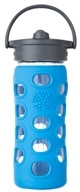 Lifefactory - Glass Bottle with Straw Cap and Silicone Sleeve Ocean - 12 oz.
