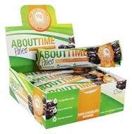 About Time - Paleo Fruit Nuts and Protein Bars Box Dark Chocolate Brownie - 12 Bars