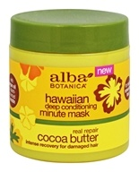 Alba Botanica - Hawaiian Deep Conditioning Minute Mask Cocoa Butter - 5.5 oz.
