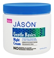 JASON Natural Products - Gentle Basics Night Cream Fragrance Free - 15 oz.