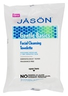 JASON Natural Products - Gentle Basics Facial Cleansing Towelettes Fragrance Free - 30 Towelette(s)