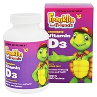 Treehouse Kids - Franklin and Friends Vitammin D3 Berry 400 IU - 250 Tablet(s)