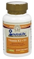 Nutralife - Vitamin K2 + D3 - 60 Chewable Tablets