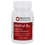 Protocol For Life Balance - Methyl B12 1000 mcg. - 100 Lozenges