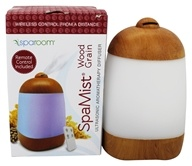 SpaRoom - SpaMist Wood Grain Ultrasonic Aromatherapy Diffuser