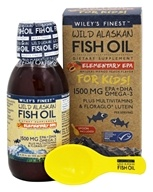 Wiley's Finest - Elementary EPA For Kids Liquid Natural Mango Peach 1500 mg. - 4.23 oz.