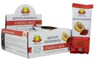 Amrita - Plant-Based Nutrition Energy Bars Box Apricot Strawberry - 12 Bars