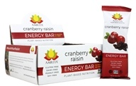 Amrita - Plant-Based Nutrition Energy Bars Box Cranberry Raisin - 12 Bars