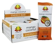 Amrita - Plant-Based Nutrition Energy Bars Box Mango Coconut - 12 Bars