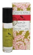 Soap & Paper - Perfume Rollerball Oil Green Tea - 0.3 oz.