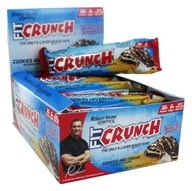Chef Robert Irvine FortiFX - Fit Crunch Protein Bars Box Cookies and Cream - 12 Bars