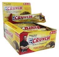 Chef Robert Irvine FortiFX - Fit Crunch Protein Bars Box Peanut Butter - 12 Bars