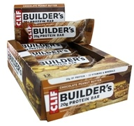 Clif Bar - Builder's Protein Bars Box Chocolate Peanut Butter - 12 Bars