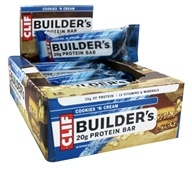Clif Bar - Builder's Protein Bars Box Cookies 'N Cream - 12 Bars