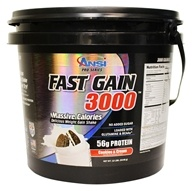 ANSI (Advanced Nutrient Science) - Fast Gain 3000 Cookies & Cream - 12 lbs.
