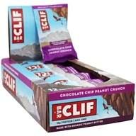 Clif Bar - Organic Energy Bars Box Chocolate Chip Peanut Crunch - 12 Bars