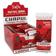 Chapul - Cricket Protein Aztec Bars Box Dark Chocolate, Coffee, & Cayenne - 12 Bars