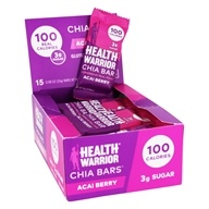 Health Warrior - Superfood Chia Bars Box Acai Berry - 15 Bars