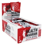 Health Warrior - Superfood Chia Bars Box Apple Cinnamon - 15 Bars