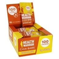 Health Warrior - Superfood Chia Bars Box Banana Nut - 15 Bars