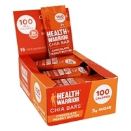 Health Warrior - Superfood Chia Bars Box Chocolate Peanut Butter - 15 Bars