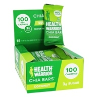 Health Warrior - Superfood Chia Bars Box Coconut - 15 Bars