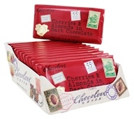 Chocolove - Dark Chocolate Bars Box Cherries & Almonds - 12 Bars